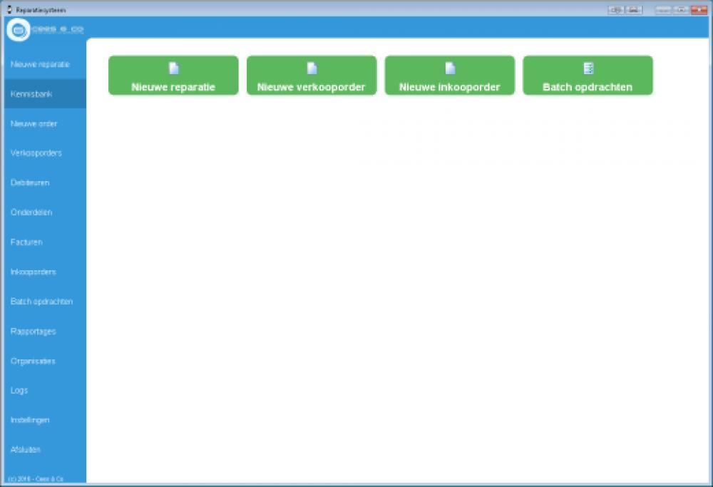 <p>Hiermee worden alle binnengekomen reparaties, ook die online zijn aangemeld, verwerkt.</p>  <p>Elke reparatie krijgt tijdens het hele proces bij elke verandering een nieuwe status, die direct wordt doorgegeven aan de eigenaar van het horloge d.m.v. een mail of sms.</p>  <p>De voltooide reparaties worden op een pakbon gezet en kunnen aan de hand daarvan weer gefactureerd worden.</p>